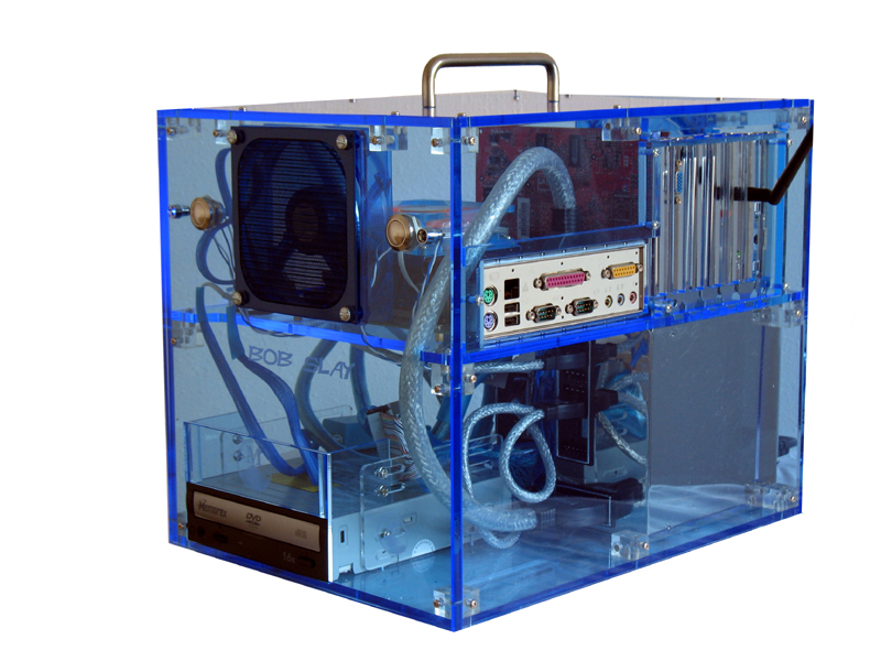 Transparent Clear Game Computer PC Tower Case for XP/AMD/Intel/dual